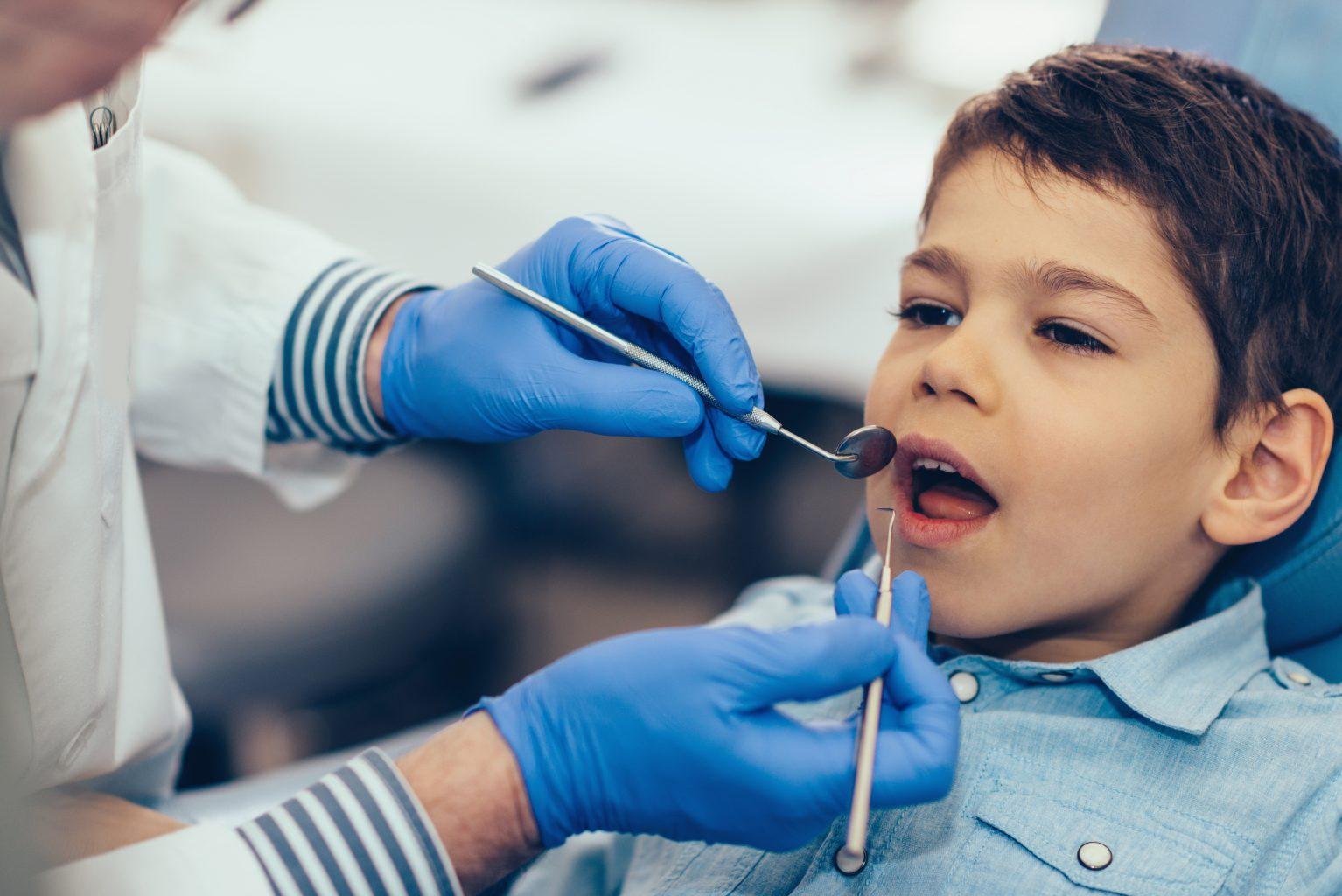 Little Boy Having Dental Exam